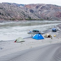 Camping on the Fraser River.