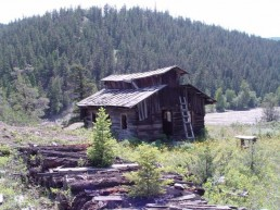 Old cabin left from the early goldrush.
